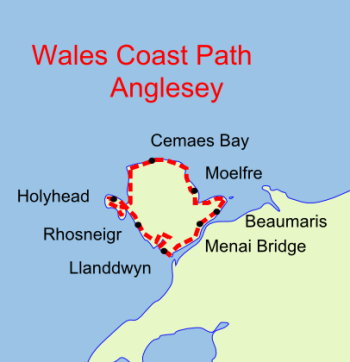 Wales Coast Path Anglesey map