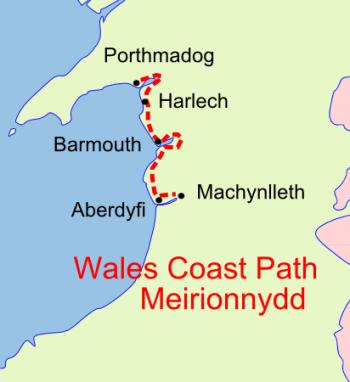 Wales Coast Path Meirionnydd map