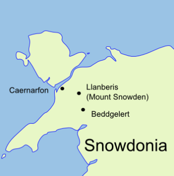Snowdonia and Anglesey map for wales walking holidays