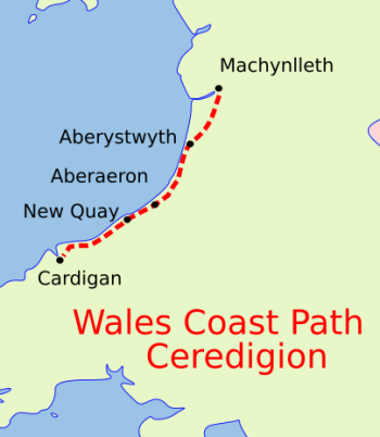 Wales Coast Path Ceredigion map