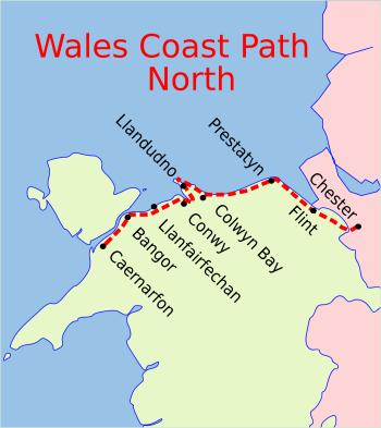 Wales Coast Path North map